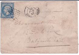 Pont Audemer, GC 2925 Sur N°22,1866  ( 1806/1.13) - Marcophilie (Lettres)