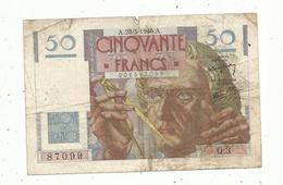 Billet , 50 Francs , 50 , LE VERRIER ,  28-3-1946 , 2 Scans - 1871-1952 Anciens Francs Circulés Au XXème