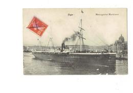 Cpa - NIGER - Messageries Maritimes - Bateau - B.L. - 1913 - Niger