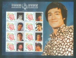 CHINA 2005-17 Centenary Ann Of The China Cinema   Movie Star Bruce Lee Special Sheet - Cinéma