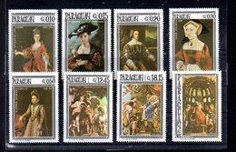 PARAGUAY MICHEL 1666/1673** SUR DES TABLEAUX DE RUBENS TITIEN VERONESE - Paraguay