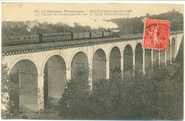 Mouthiers-sur-Boeme-(le Viaduc De Coutaubières Sur La Ligne Paris Bordeaux-(Catégorie Gare Et Train ) - Autres Communes