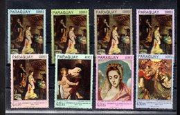 PARAGUAY MICHEL 1700/1707** SUR DES TABLEAUX RELIGIEUX DE BAROCCI ET CARAVAGE - Paraguay