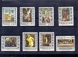 PARAGUAY MICHEL 1682/1689** SUR DES BOUQUETS EN TABLEAUX PAR VAN GOGH RENOIR CEZANNE ETC - Paraguay
