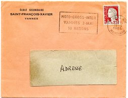 MORBIHAN - Dépt N° 56 = VANNES RP 1964 = Flamme SECAP ' MOTO CROSS INTER / 10 NATIONS ' - Mechanische Stempels (reclame)