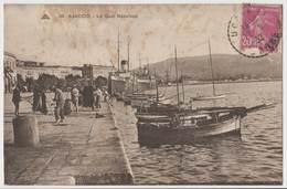 CPA Animée Ajaccio - Le Quai Napoléon - Pecheurs Bateaux Corse - Ajaccio