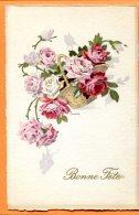 Oct014, Illustrateur, Panier De Rose, Circulée 1919 Sous Enveloppe - Fleurs