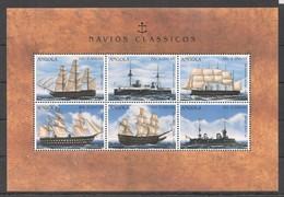 D172 ANGOLA TRANSPORTATION SHIPS & BOATS NAVIOS CLASSICOS 1KB MNH - Schiffe