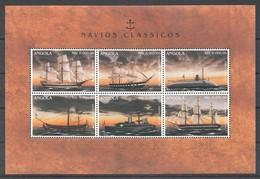 D173 ANGOLA TRANSPORTATION SHIPS & BOATS NAVIOS CLASSICOS 1KB MNH - Schiffe