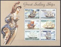 D174 GUYANA SHIPS GREAT SAILING SHIPS 1KB MNH - Schiffe
