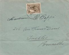 Env Affr.385 (musicien Peter Benoit) Obl LIER 1934 V. Ixelles (pli Hors Timbre) - Lettres & Documents