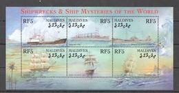 D182 MALDIVES SHIPWRECKS & SHIP MYSTERIES OF THE WORLD 1KB MNH - Schiffe