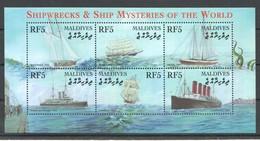 D183 MALDIVES SHIPWRECKS & SHIP MYSTERIES OF THE WORLD 1KB MNH - Schiffe