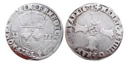 HENRI IV Quart D'Ecu 1601 L (Bayonne) Croix Feuillue De Face - 987-1789 Monnaies Royales