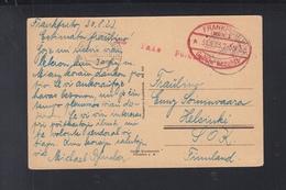 Dt. Reich PK 1923 Gebühr Bezahlt Frankfurt Nach Finnland - Briefe U. Dokumente