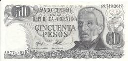 ARGENTINE 50 PESOS ND1976-78 UNC P 301 B - Argentina