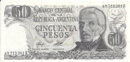 ARGENTINE 50 PESOS ND1976-78 UNC P 301 B - Argentine