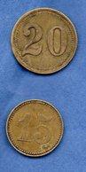 Lot De 2 Jetons à Identifier - Monetary/Of Necessity