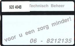 Telefoonkaart  LANDIS&GYR  NEDERLAND * RCZ 920  404b * Homij Technisch Beheer*   TK * ONGEBRUIKT * MINT - Nederland