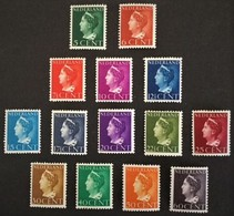 1940-1947 Koningin Wilhelmina  NVPH 332-345 **) - Period 1891-1948 (Wilhelmina)