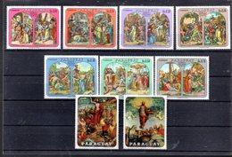 PARAGUAY MICHEL 2017/2025** SUR DES TABLEAUX DU CHEMIN DE CROIX POUR PAQUES 1970 - Paraguay