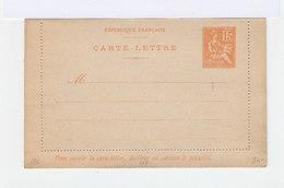 Carte Lettre 15 C. Mouchon Orange Avec Date. N°218. (520) - Entiers Postaux
