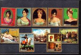 PARAGUAY MICHEL 2230/2239** SUR DES TABLEAUX DES FEMMES DE NAPOLEON ET DIVERS - Paraguay