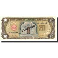 Billet, Dominican Republic, 20 Pesos Oro, 1982, 1982, Specimen, KM:120s1, NEUF - Dominicana