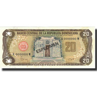 Billet, Dominican Republic, 20 Pesos Oro, 1982, 1982, Specimen, KM:120s1, NEUF - Dominicaine