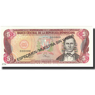 Billet, Dominican Republic, 5 Pesos Oro, 1993, 1993, Specimen, KM:143s, NEUF - Dominicaine