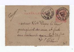 Carte Lettre 1891. Type Albert 1er 15 C.rose Carmin. Oblitérée. (522) - Entiers Postaux