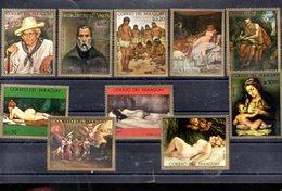 PARAGUAY MICHEL 2325/2334** SUR DES TABLEAUX DU MUSEE D ASUNCION - Paraguay