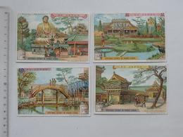 CHROMO LIEBIG: AU JAPON N°3 (S817) 1905 - Lot 4 Différents Même Série - Bouddha KAMAKOURA Jardin Japonais Temple Pont - Liebig