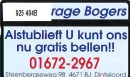 Telefoonkaart  LANDIS&GYR  NED * RCZ 925  404b * Garage Bogers Nissan * TK * ONGEBRUIKT * MINT - Nederland