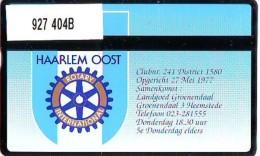 Telefoonkaart  LANDIS&GYR  NED * RCZ 927  404b * ROTARY CLUB  * TK * ONGEBRUIKT * MINT - Nederland
