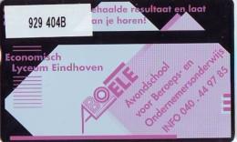Telefoonkaart  LANDIS&GYR  NED * RCZ 929  404b * Economisch Lyceum Eindhoven * TK * ONGEBRUIKT * MINT - Nederland