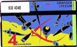 Telefoonkaart  LANDIS&GYR  NED * RCZ 930  404b * GRAFISCH LYCEUM ROTTERDAM * TK * ONGEBRUIKT * MINT - Nederland