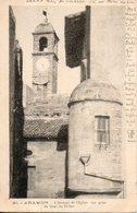 30. Aramon. L'horloge De Léglise. Vue Prise Du Quai Du Rhône - Aramon