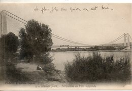 30. Aramon. Perspective Du Pont Suspendu - Aramon