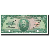 Billet, Dominican Republic, 10 Pesos Oro, Undated (1964-74), Specimen, KM:101s2 - Dominicana