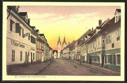 AK St. Andrä I. Lavanttale, Strassenpartie Mit Gasthaus - Autriche