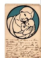 Illustrateur  MBAY...  ART DECO. Mère Avec Son Enfant. - Illustrators & Photographers