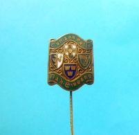 IRELAND FOOTBALL FEDERATION - Very Old Enamel Pin Badge Irish Soccer Association Fussball Futbol Futecol Calcio Foot - Football