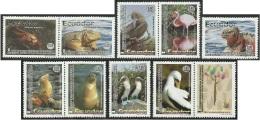Ecuador 1654/63 2002 Fauna Galápagos Iguana Foca Cangrejo MNH - Francobolli