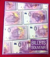 CLASSEUR DE RANGEMENT POUR BILLETS ZERO EURO SOUVENIR 2017 FRANÇAIS BANKNOTE BANK NOTE EURO SCHEIN MONEY - EURO