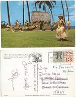 Tahitian Dancers In Kodak Hula Show  - AirmailPPC Honolulu Hawaii 10dec1968 With Liberty Bell C.13 - Oceania