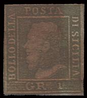 A.S.I. - Sicilia: Effige Di Ferdinando II - 1 Gr. Verde Grigiastro - 1859 - Sicilia