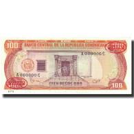 Billet, Dominican Republic, 100 Pesos Oro, 1985, 1985, Specimen, KM:122s2, NEUF - Dominicana