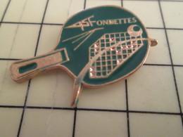 Pin1016c : Pin's Pins / RARE & BELLE QUALITE / THEME : SPORTS /  CLUB A.S. FONDETTES TENNIS DE TABLE PING PONG - Table Tennis