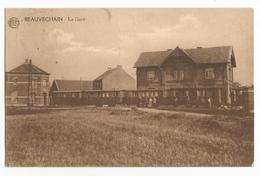 Beauvechain La Gare Sation Carte Postale Ancienne Wagons - Bevekom